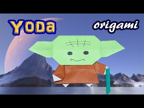 Origami  Easy Yoda Instructions | How to Make a Paper Star Wars Yoda For Kids | Awesome Origami