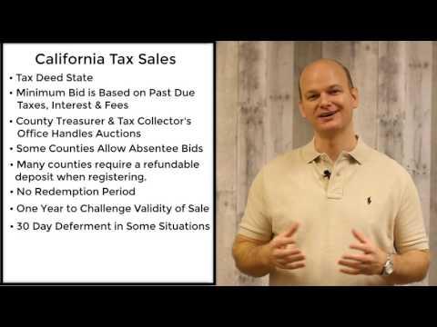 California Tax Sales - Tax Deeds