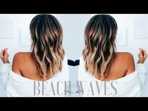 How to Create Beachy Waves on Medium Length Hair | Ashley Bloomfield