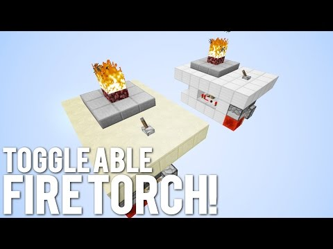 Minecraft: Fire Torch Light Switch [Dynamic Fire Lighting!]
