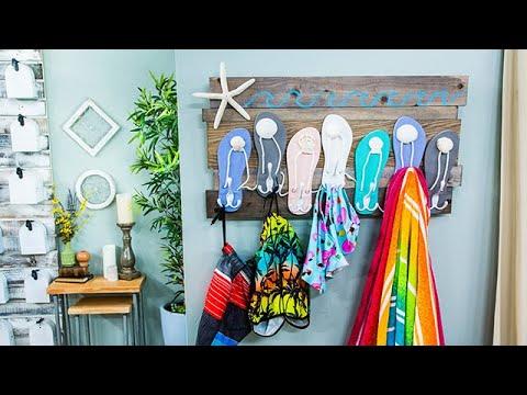 DIY Flip Flop Beach Towel Rack - Home & Family