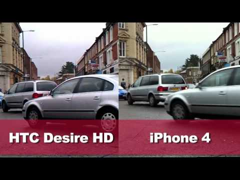 HTC Desire HD vs iPhone 4 camera and video test