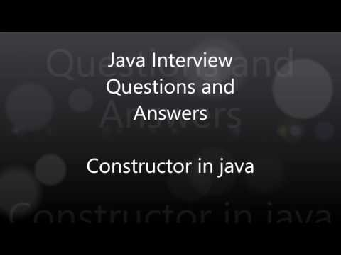 Interview questions on constructor in java | Java Tricky Questions