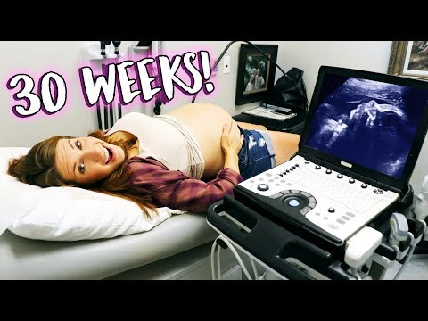 30 Weeks Pregnancy Ultrasound! - Baby Is Almost Here!