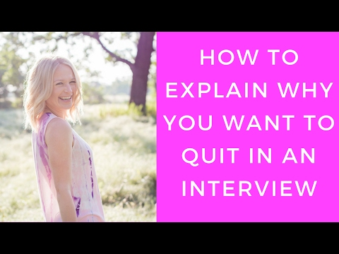 How to explain why you are quitting in an interview | Career Advice Podcast