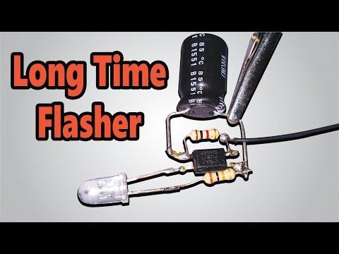 How To Make LED Flasher Circuit (English Subtitles)