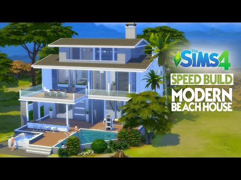The Sims 4 Speed Build - Modern Beach House
