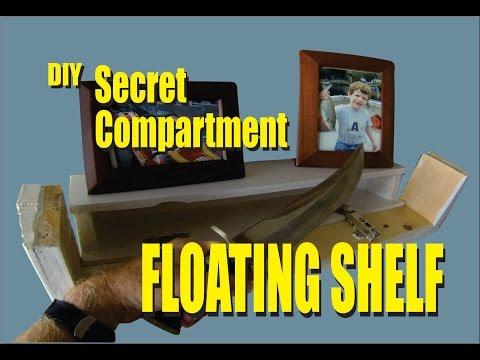 DIY Secret Compartment Floating Shelf