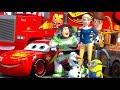 Disney Pixar CARS Meet TOY STORY Lightning McQueen Minions Buzz Lightyear Woody ANIMATION SHORT