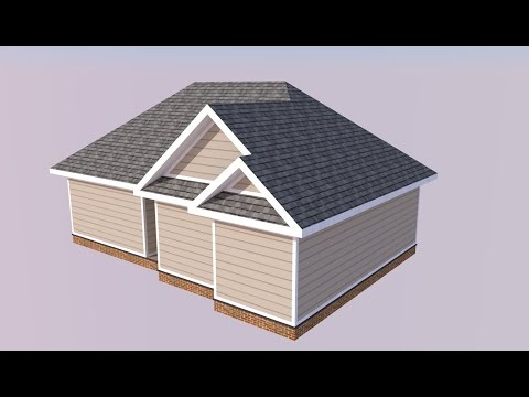 SketchUp Project House Model - Roofing Tutorial