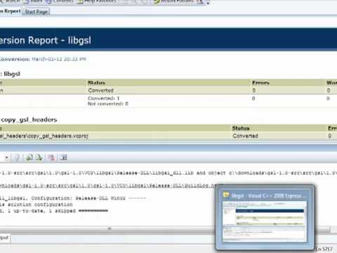 Tricks to build gsllib DLL within Microsoft Visual Studio 2008 not 2010