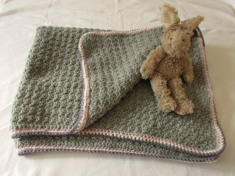 VERY EASY crochet baby blanket for beginners - quick afghan / throw