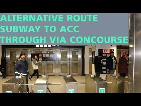 THE SHORT ROUTE FROM UNION STATION SUBWAY STOP TO AIR CANADA CENTRE