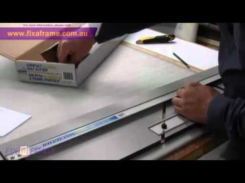 How to Cut Picture Frame Mat Boards with a Logan Mat Cutter