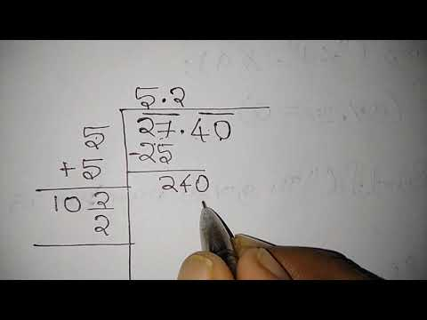Find the square root of decimal number in hindi English