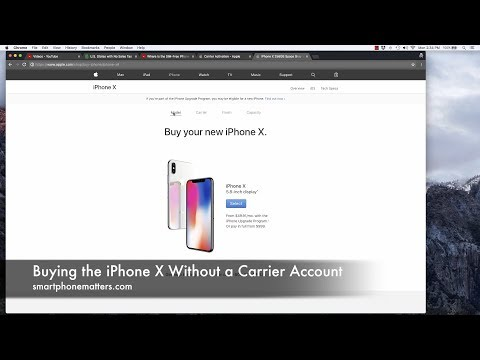 Buying the iPhone X Without a Carrier Account