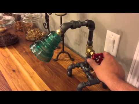 Black Iron - Glass Insulator Industrial Lamp