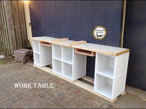 Woodworking : Storage Art Desk // How-To Part 2
