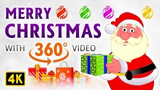 Merry Christmas 360° VR Video | 4K | Christmas Songs | By Magicbox