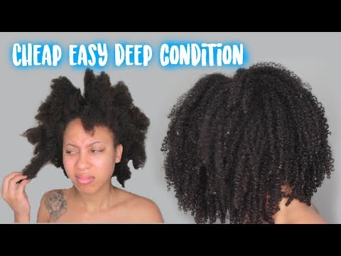 DRY TO FLY | CHEAP & EASY DEEP CONDITION ON NATURAL HAIR