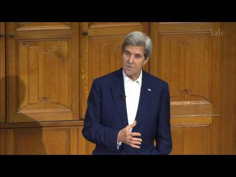 """John Kerry at Yale """"Question about Syria"""""""
