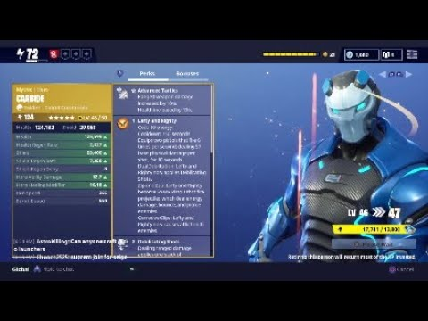 Fortnite Save the World - New Mythic Soldier Carbide Hero Showcase! 5 Star Evolution Armor Upgrade!