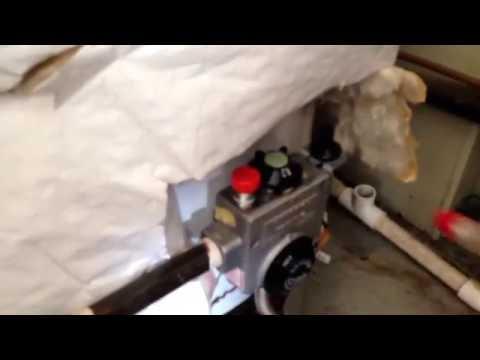 Water Heater Gas valve leak