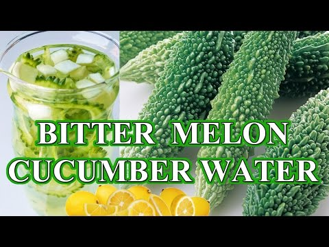 JUICE SMOOTHIE for DIABETES BITTER MELON CUCUMBER WATER  karela WEIGHT LOSS करेला विधि रस ठग