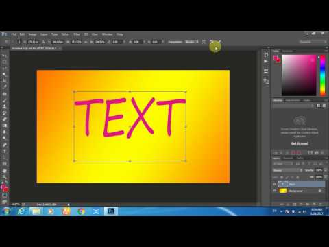 how to create colorful text in photoshop