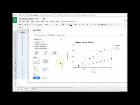 Plotting Two Data Sets in One Graph with Google Sheets