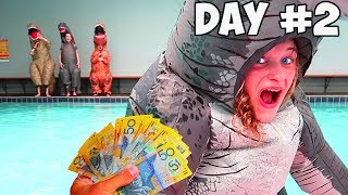 LAST TO LEAVE THE DINOSAUR SUIT WINS $1000 | Mr Beast Kids