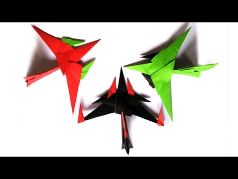 Origami Fighter Jet (Easy HomeMade) : T-Craft | How To Make | Tutorial