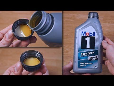 Mobil 1 Turbo Diesel 0W40 original engine oil show