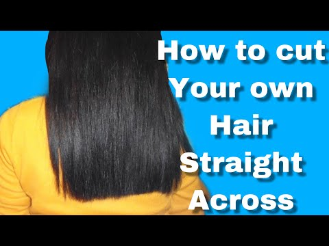 How to CUT your own HAIR STRAIGHT! [Gloria Glam]
