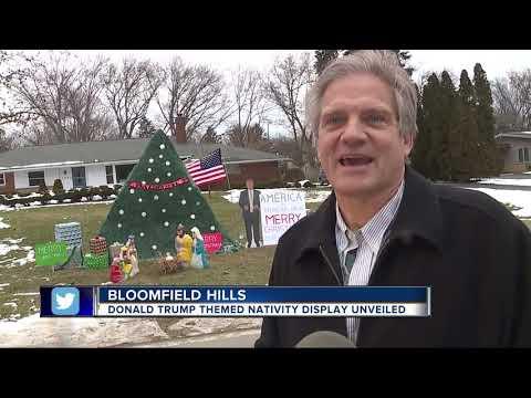 Donald Trump themed holiday display