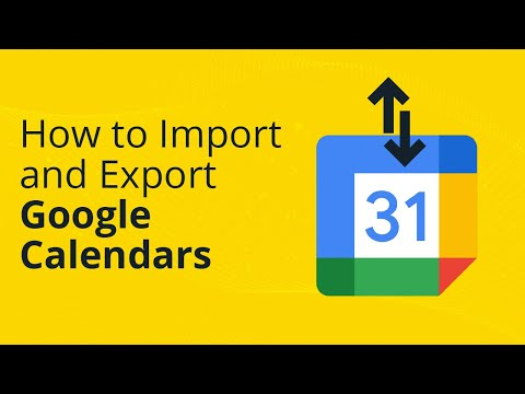 How to Import and Export Google calendars