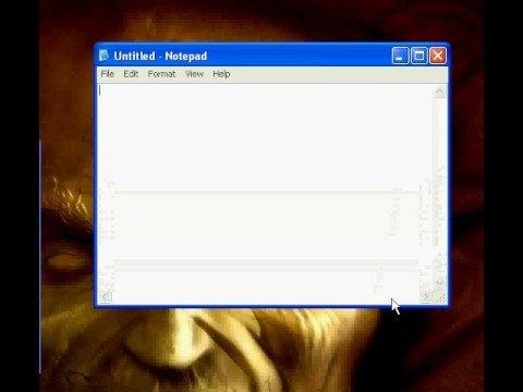 Resize Notepad Windows