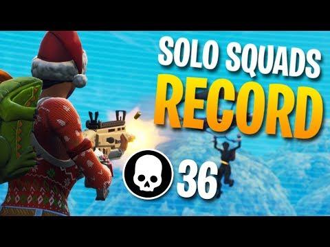 36 Kills Solo Vs Squads Personal Record Fortnite Battle Ro
