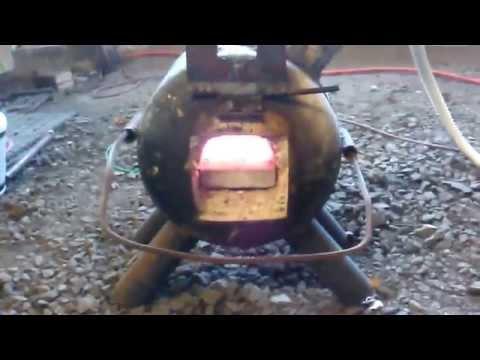 Cheap Homemade propane blacksmith forge