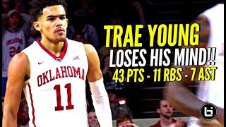 Steph Curry... I Mean Trae Young COLD BLOODED 43 Points & Damn Near Triple Double vs TCU!!