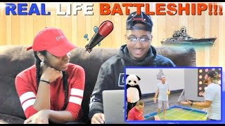 """Dude Perfect """"Giant Warship Battle"""" Reaction!!!"""
