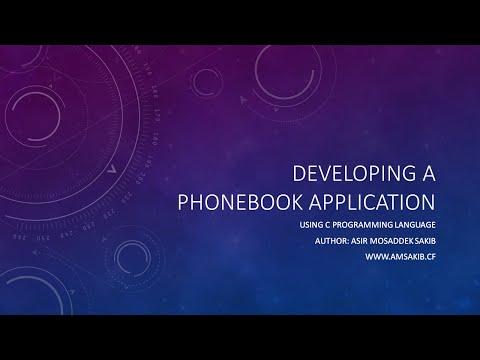 Phonebook Application using C Programming Language [ Part 1 ]