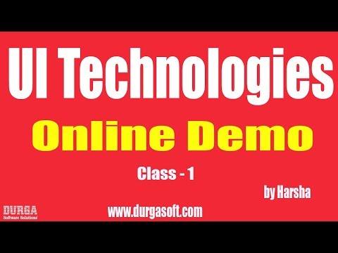 Learn UI Technologies Online Training | Class - 1 |by Harsha Sir