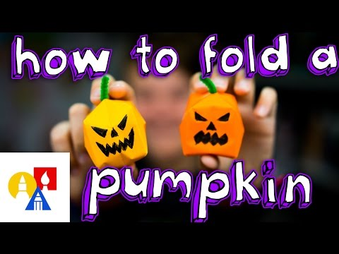 How To Make An Origami Water Bomb Pumpkin