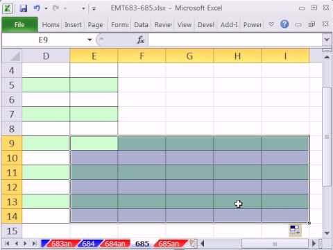 Excel Magic Trick 685: Conditional Format For Alternative Rows