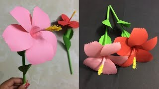 How to make easy flower with colored paper making paper flowers step how to make hibiscus paper flower making paper flowers step by step diy paper crafts mightylinksfo