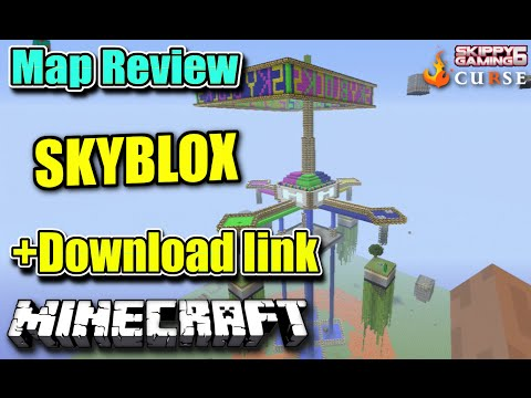 MINECRAFT - PS3 - SKYBLOCKS MAP REVIEW + DOWNLOAD LINK ( PS4 )  SERVER UPDATE