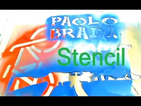 How to create stencil for decoration