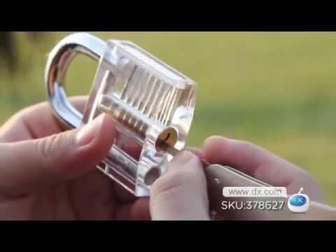 Transparent Padlock Gembok Transparan Belajar Lock Pick / buka kunci