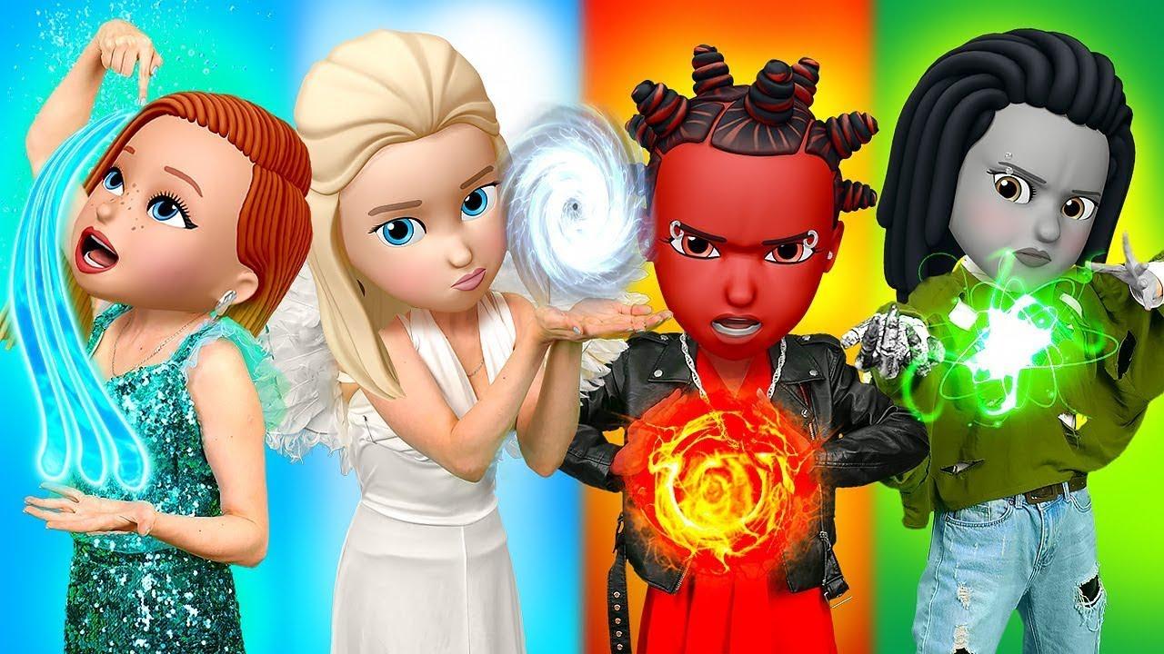 Fuego, Agua, Tierra y Aire   ¡Elementos en la escuela de monstruos! Momentos por La La Life Emoji